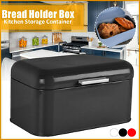 Large Metal Bread Holder Bin Box Design Home Kitchen Storage Container