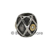 NEW Pandora Harlequin Web 14k Gold 925 Silver ALE Diamond Charm 790164D 14ct