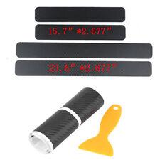 4x Car Door Sill Protector Sticker Auto Parts 3D Carbon Fiber Pedal Guard Decal