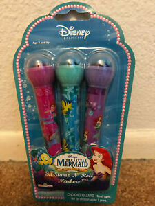 Disney Princess Ariel Little Mermaid Markers & Rolling Stamps Stationary New