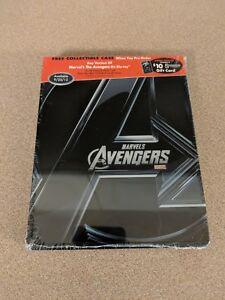 COLLECTIBLE TIN STEELBOOK CASE EMPTY ONLY FOR MARVEL'S AVENGERS BLU-RAY DVD NEW
