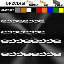 4 adesivi sticker fiat abarth ESSEESSE tuning prespaziato,auto 19,5cm / 14cm