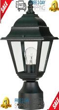 Outdoor Yard Garden Post Pole Lantern Light Lighting Lamp Fixture Finish Black