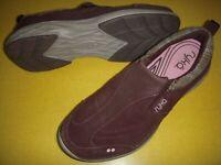 Ryka Terrain Suede Leather Slip-On Comfort Walking Shoes Women's 7 M Brown