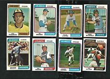Topps lot PICK 25 - 1974 1976 1977 1978 1979 & 1980 - - COMPLETE YOUR SET(s)