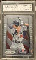 2012 Panini Prizm Bryce Harper RC USA Baseball Rookie Graded Gem Mint 10 INVEST