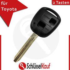 Toyota 2 Tasten Autoschlüssel Gehäuse mit Rohling TOY43 Ersatz Sienna RAV4 Neu
