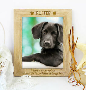 Personalised Quote Pet Dog Wooden Picture Photo Frame Puppy Keepsake Gift