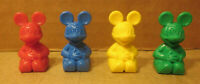 Mickey Mouse 4 Pieces Red Blue Yellow Green Replacement Disney Board Game Part