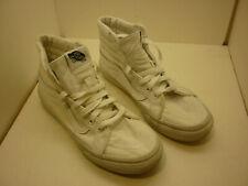 Vans Sk8-Hi Sneakers True White Mens Canvas Skateboarding High-Top Shoes 5.5M 7W