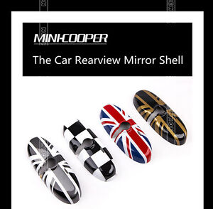 Union Jack Uk Checkered Rear ViewMirror Caps Covers For Mini Cooper/Countryman