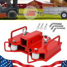 2 Forklift Hitch Receiver Dual Pallet Forks Trailer Towing Adapter Attachment