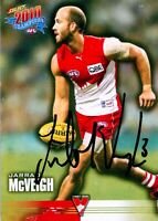✺Signed✺ 2010 SYDNEY SWANS AFL Card JARRAD MCVEIGH