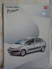 Citroen Xsara Picasso brochure Feb 2001