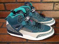 JORDAN Spizike Mens Shoe Size 10.5 NEW 315371-407 Blue Tropical Teal Pink Grey