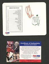Ben Curtis Signed Augusta National Scorecard PSA/DNA COA AUTO Autograph