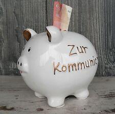 Sparschwein zur Kommunion Spardose Geldgeschenk statt Karte Gastgeschenk gold