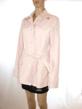 ESPRIT Ladies Vtg Retro Style Casual Pink Mac Trench coat Jacket sz L AE12