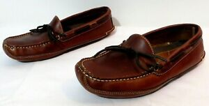 L.L.Bean Men's Leather Slipper With Leather Soles Size 8 D