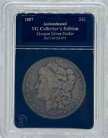 1887 Morgan Silver Dollar Bradford Exchange Authenticated VG Collector's Edition