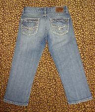 BKE THE BUCKLE REESE STUD POCKET CROPPED DENIM CAPRIS JEANS * SZ 24
