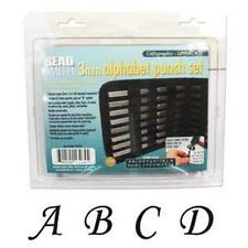 Beadsmith 3mm Calligraphic Uppercase Alphabet Punch Set with Case
