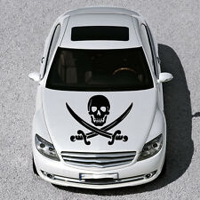 PIRATE SIGN SKULL WITH CROSS SWORDS HOOD CAR VINYL STICKER DECALS GRAPHIC SV1021