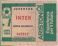 BIGLIETTO  TICKET calcio - campionato SERIE A - 1982 / 1983 : JUVENTUS  INTER