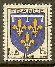 "FRANCE TIMBRE STAMP N°604 "" ARMOIRIES ORLEANAIS "" OBLITERE TB"