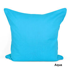 "Best Quality Plain Dyed 100% Cotton Cushion Cover Size 16"" x 16""(40x40cm)"