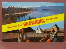 Old Postcard MT Browning