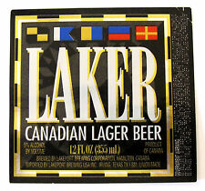 Lakeport Brewing LAKER - CANADIAN LAGER BEER label CANADA 12oz Imported