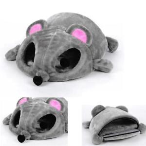 50x40x21cm Mouse Shape Pet Sleeping Bag Dog Cat Nest Puppy Mats Grey Pad Tunnels