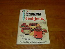 Vintage Rival Crock Pot Slow Electric Stoneware Cooker Cookbook/Instructions