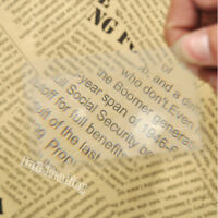 20PCS Portable Credit Card 3X Magnifier Magnifying Magnification Fresnel Lens