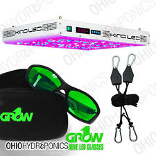 Kind LED K5 XL1000 Grow Light with Free Ratchet Hangers & LED Grow Room Glasses
