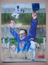 Chicago Cubs 1985 Spring Training Program Seattle Mariners