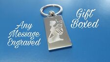 Personalised Fairy Keyring In Gift box with your message ANY TEXT