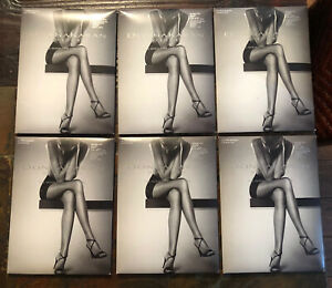 Donna Karan Ultra Sheer Control Top Pantyhose Sandalfoot Chocolate Medium 6 Pack