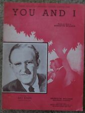 You and I - Maxwell House Coffee Theme Song - Kay Kyser Sheet Music 1941