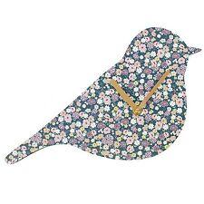 Stampa Floreale Florella Shabby Chic a forma di uccellino PICCOLO OROLOGIO DA PARETE ARREDAMENTO CASA REGALO