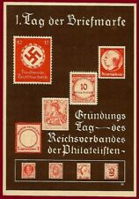 German WW 2 Third Reich Day of Stamp postcard cover 1936