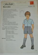 sewing pattern boys school shirt uniform summer