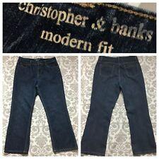 Christopher & Banks Womens Jeans size 12 Short Dark Wash LIghtweight Bootcut 12S