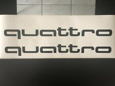 2x Audi Quattro Schriftzug / Aufkleber / 100 x 11 cm Schwarz Hochglanz