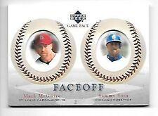 MCGWIRE/SOSA   2003 UPPER DECK GAME FACE #178     FREE COMBINEDS HIPPING