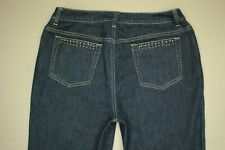 Jones New York Signature Boot Cut Jeans Women's Size 6 Dark Wash Denim