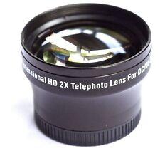 2x HD TELE LENS SONY HDR-SR8 HDR-SR7 HDR-CX7 DCR-SR200