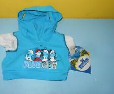 New Babw Build A Bear The Smurfs Blue Crew Hoodie 1 Pieces Outfit w/ Tag