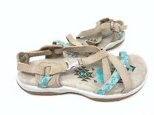 New! Skechers Women's Reggae Slim Vacay Comfort Sport Sandals Taupe #4095 70E z